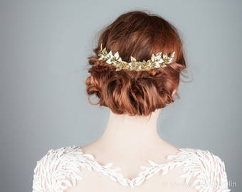 Bridal Hair Accessoires, 3 pieces, Vintage Wedding, Woodland Bride, Greek Goddess, Wedding Hair Accessories, Bridal Hair Comb Gold, 2018