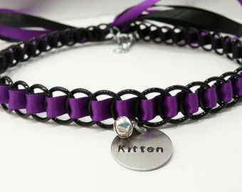 Ribbon Maille BDSM Discreet Kitten Day Collar, Pet Play, Kitten Play, Many Colors Available