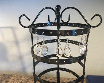 Small hoop earrings