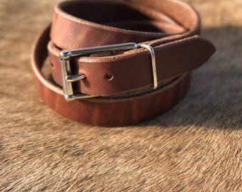 Heavy Leather Work Belt, Rugged Belt, Working Belt, Leather Belt
