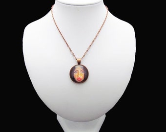 Pendant Necklace - Beautiful Ambiguity - By Mixed Media Artist Malinda Prudhomme