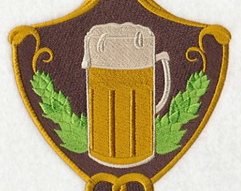 Beer Crest Embroidered Flour Sack Hand/Dish Towel