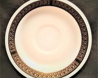 "Pyrex Tableware Ebony 6"" saucer"