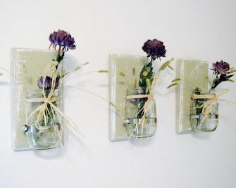 Mason Jar Sconces Set of 3