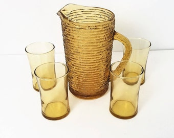 Juice Pitcher and glasses