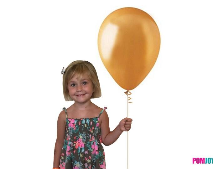 "Gold Balloons Latex, 17"" Balloons, Gold Balloons, Gold Party Decorations, Gold 12"" Balloon, Gold 17"" Balloon, Gold Birthday Party Decor"