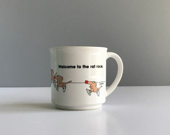 Vintage Sandra Boynton Welcome To The Rat Race Mug