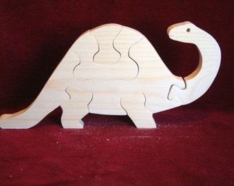 Brontosaurus Puzzle, Unfinished Pine