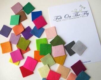 Felt Swatches, Merino Wool Felt, Felt Sampler, Choose Nine Swatches, Color Chart, Felt Color Sampler, Felt Color Card, DIY Planner