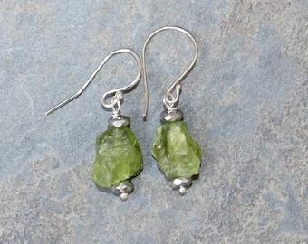 Peridot Earrings, Light Green Earrings, Gemstone Earrings, Natural Stone Earrings, Spring Green Earrings, Spring Earrings, Peridot Jewelry