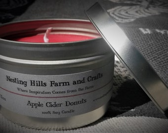 100% All-Natural Soy Candle 8 0z Tins