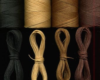 4 x 10 m Brown Linhasita macrame thread