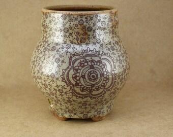 Flower Pottery Vase, Pottery vase, stoneware pottery vase, decor pottery vase, decorative pottery vase, vase, ceramic vase, brown vase