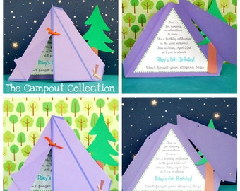The CAMPOUT Collection - Custom Invitations from Mary Had a Little Party