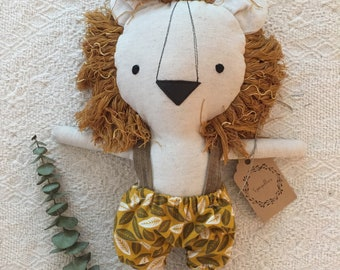 Doll lion stuffed animal toy baby and child
