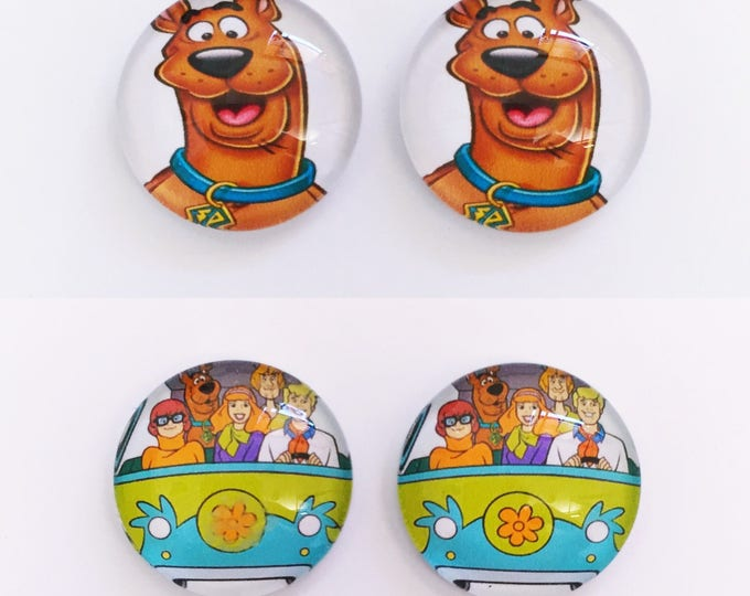 The 'Scooby Doo' Glass Earring Studs