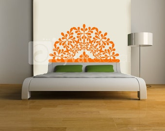 Hawaiian Headboard Decal- twin, double, full, queen, king-  dorm room, bedroom sticker