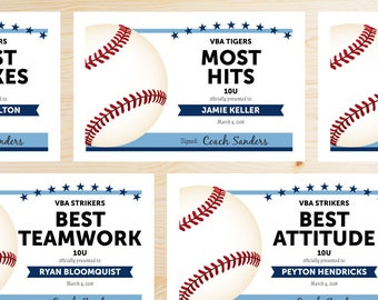 editable baseball award certificates instant download printable light sky carolina blue and navy