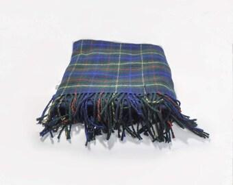 Pendleton Classic Vintage Wool Plaid Blanket Throw Fringe USA