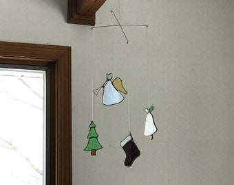 Stained Glass Christmas Mobile