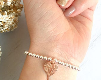 Bracelet entirely in 925 silver with balloon pendant