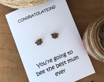 Congratulations - earring greeting card