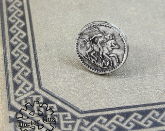 St George Tie Tack  - Handcrafted Pewter Accessories by Doctor Gus