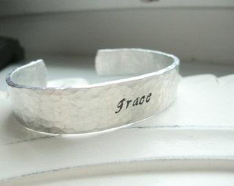 Grace Hammered Cuff, 14 Gauge Aluminum