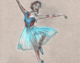 Ballet Corpse 1, 8x10 print