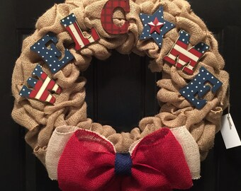 USA WELCOME wreath SALE!!!!