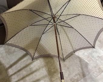 Authentic Vintage Gucci Gg Monogram Parasol Umbrella Italy