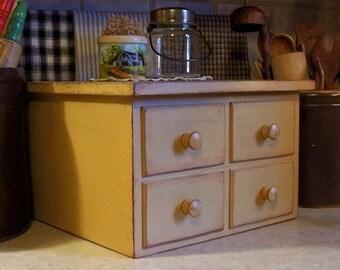 Farmhouse Rolling Pin Jar Shelf Primitive Kitchen Storage
