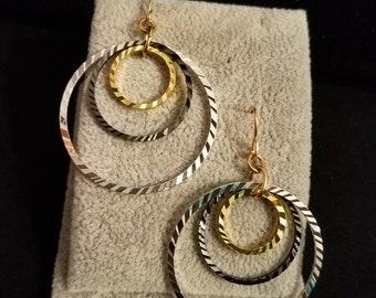 Tri Hoops - Drop Earrings