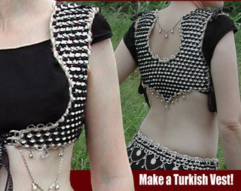 Tabistry Turkish-style Vest PDF - Pattern and Instructions using Soda Pop Can Pull Tabs