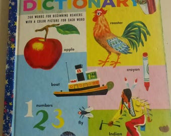 Vintage Giant Little Golden Book My Little Golden Dictionary Illustrated by Richard Scarry