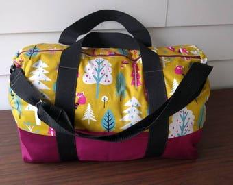 READY TO SHIP Kokka Japanese Forest Friends Adventurer Overnight bag