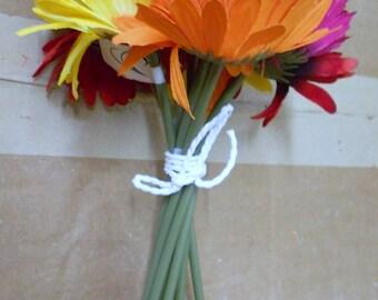 Multicolor Gerbera daisy flowers bridal bouquet