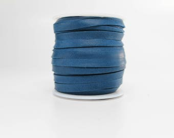 3/16 Inch 5MM Spool of Navy Blue Deerskin Leather Lace 50ft Roll (Dark Royal, Light Midnight)