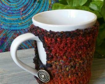 Brindle Berries hand made adorable coffee mug cozie mug cozy
