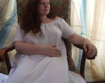 Regency style bespoke chemise, 19th century, 100% cotton. UK sizes S - XL