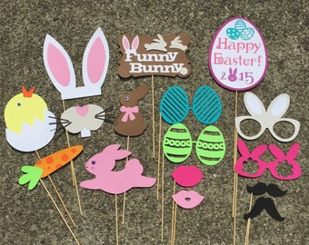 Easter Photo Booth Props, Easter Party, Easter Celebration, Gift Idea