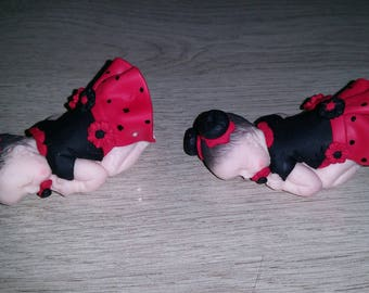 only 1 baby chinion everything Fimo handmade
