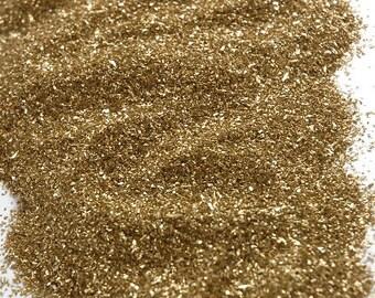 German Glass Glitter, 1 Pound Glass Glitter, Bulk Glass Glitter, German Gold Glitter, Glass Glitter, Craft Supply, Glitter Glass