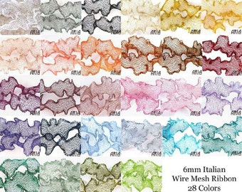 ITALIAN WIRE MESH: Mix and Match Five Colors (100 inches / 8.33 feet / 2.76 yards in each spool)