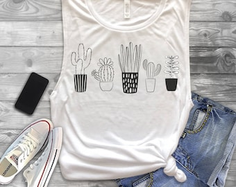 cactus muscle tank. Cactus Shirt, Succulent Shirt, Plant Shirt, Dessert Shirt, Arizona Shirt, Tumblr Shirt, Plants Shirt, Funny Cactus Shirt