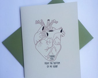 Thank you from the bottom of my heart Greeting Card