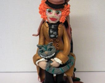Mad Hatter, Cheshire Cat, Queen of Hearts, Alice in Wonderland, Cake Topper, Gift, Keepsake
