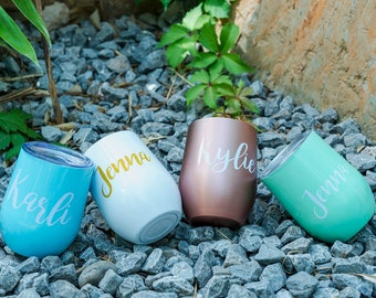Personalized Wine Tumbler Stainless Steel Tumbler Wine Cup Insulated Tumbler Wedding Favors Party Supplies Vacations Favors Custom Tumbler