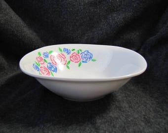 Hand-painted Flower Bowl