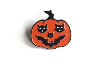 Art Deco Pumpkin Enamel Pin